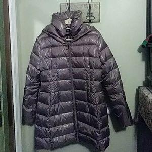 Express metallic puffer coat